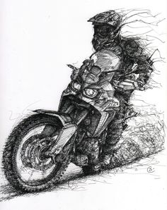 awesome honda africa twin sketch