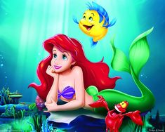 Ariel, Flounder and Sebastian!