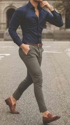 Mens Casual Dress Outfits, Formal Men Outfit, Casual Wear For Men, Stylish Mens Outfits, Formal Dresses For Men, Formal Shirts For Men, Fashion Outfits, Business Casual Herren, Trajes Business Casual