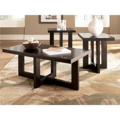 Signature Design by Ashley Jasin Occasional Set Includes Cocktail Table And 2 End Tables $358.61