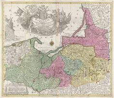 A stunning 1759 first edition, first state, map of northern Poland (Borussiae) by the Augsburg cartographer Tobias Conrad Lotter.  The map covers from German Pomerania eastward to Lithuania and Belarus and from the Baltic Sea to Torun (Thorn).  Includes the major cities of Gdansk (Dantzig), Elblag (Elbing), Malbork (Marienburg), Lidzbark Warminski (Hielsberg), Koningsberg (modern day Russia), and Chelmno (Culm).  Mountains and forests are rendered in profile following the Lotter typical…