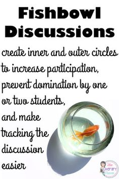 Are you thinking about holding a socratic seminar in your classroom? Or maybe your last whole class discussion didn't work out so well? Read on for why fishbowl discussions are the way to go and how to help students prepare for, participate in, and reflec Instructional Strategies, Teaching Strategies, Teaching Tips, Teaching Reading, Instructional Technology, School Classroom, Classroom Ideas, Classroom Routines, Flipped Classroom