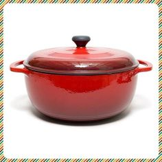 FOR THE BARGAIN HUNTER: Lodge Color Enamel 6-Quart Dutch Oven. Our favorite Dutch ovens cost more than $200. Ouch! But we found a cheaper version that performs just as well, and costs only $50. GET YOURS.