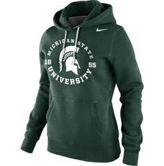 Nike Women's Michigan State Spartans Green School Stamp Pullover Hoodie - Dick's Sporting Goods