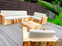 Pallet Furniture {Build a Patio with Pallets} | 101 Pallets cashforpalletsmanchester.com