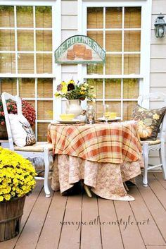 Dining Alfresco in the Fall