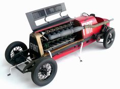 Here are some images of Italeri's (Protar molds?) 1/12 scale Fiat Mefistofele.  When researching this model on the ole i...