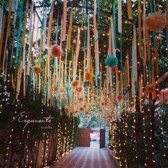 19 Trending DIY Mehndi Decoration Ideas for Mehndi Ceremony at Home Wedding Hall Decorations, Desi Wedding Decor, Diy Wedding Backdrop, Wedding Entrance, Entrance Decor, Backdrop Decorations, Wedding Colors, Mehendi Decor Ideas, Mehndi Decor