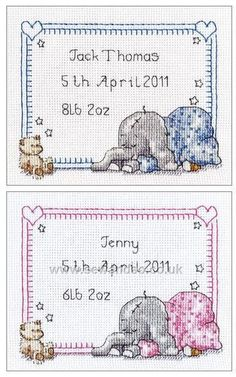 Risultati immagini per baby sampler cross stitch patterns free