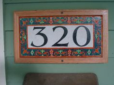 Decorative Tile House Numbers Custom Hand Painted  Fish  House Number Tile  Number Fish And