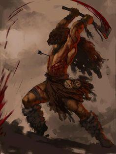Beserker                                                       … Viking Warrior, Ancient Vikings, Les Vikings, Norse Vikings, Character Concept, Viking Character, Character Art, Asatru, Barbarian Names