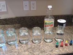 Almost Unschoolers: More Fun With Oil And Water Density - Rainbow Lava Lamps and Ocean Bottles