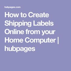 how to create shipping label relocation