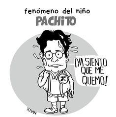 ´25 de Octubre del 2015  Es la aparición de las encuestas en lasque se muestra a Pacho Santos de ultimo en todas.