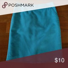 Cute Bright Blue Pencil Skirt Cute pencil skirt. Two pockets, lined & a slit in the back. Worn only a handful of times. EUC Merona Skirts Midi