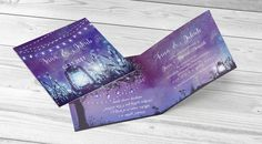 Zaproszenie ślubne światełka latarenka #light #laterns #invitation #wedding #fioletowe #purple Invitations, Cards, Save The Date Invitations, Maps, Playing Cards, Shower Invitation, Invitation