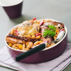 Cassoulet à l'agneau, carotte et chapelure