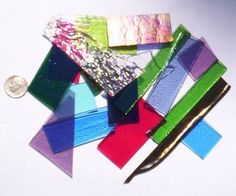 1/4 lb Fusible Iridized Color Mix 90 COE Glass Scrap by missourijewel, $8.59