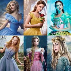 Disney Princesses (SNOW WHITE FROM MIRROR MIRROR IS NOT DISNEY)