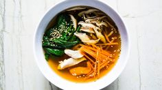 A restorative, Japanese-inspired chicken soup with only 10 ingredients.
