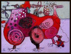 Elke Trittel acrylic on board 18x24cm