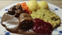 Sosakjøtt (Kjøtt i mørket) Guacamole, Beef Recipes, Crockpot, Food Porn, Food And Drink, Mexican, Ethnic Recipes, Pets, Animals