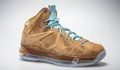 Nike LeBron X EXT; Brown Suede