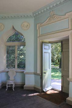 Great window. Saltram Garden - The Castle - folly