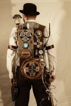 Steampunk Proton Pack by J-Bird2005, via Flickr   i WANT TO MAKE A BACKPACK sTEAMPUNK GO GO BAG ;)  #provestra