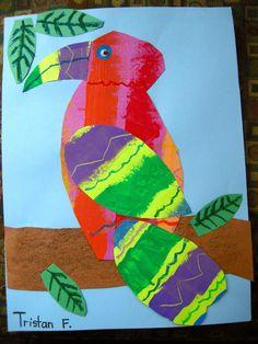 Zilker Elementary Art Class: 1st & 2nd Grade Eric Carle Collages