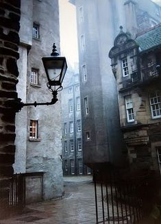 "Edinburgh, Scotland in one of the ""closes"" or alleyways which are like ribs from the spine of the Royal Mile (central street of the Old Town)."