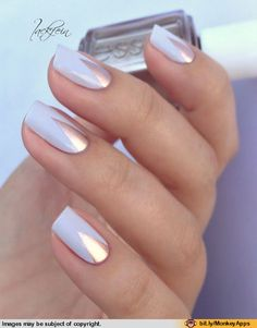 White Nails With Silver Sparkle Pretty Nails Pinterest Statement Nail Design And Silver