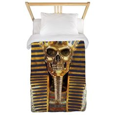 3-RB_t-shirt tutskull Twin Duvet on CafePress.com