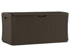 Suncast Outdoor Garden Furniture Patio 134 Gallon Resin Shed Storage Wicker Deck #Suncast