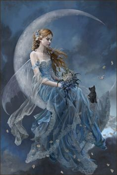 blue fairy I absolutely LOVE this painting. Such a beautiful style.