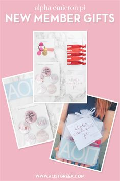Create the perfect Bid Day gift pack for your Alpha Omicron Pi new members! Choose from three gift bag options: Newbie Love, Pref Present or Spoiled. Alpha Omicron Pi Gifts | Alpha Omicron Pi Bid Day | AOII New Member Gifts | Alpha O Rush Gift Bags | AOII Recruitment | Sorority Bid Day | Sorority Recruitment | Bid Day Bags | Sorority New Member Gift Ideas #BidDayGifts #SororityRecruitment Sorority Bid Day, Sorority Recruitment, Developing Leadership Skills, Bid Day Gifts, Bid Day Themes, Alpha Omicron Pi, Day Bag, Fraternity, Gift Bags