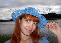 шляпа крючком васильковое лето 1