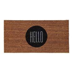 - Hello Fußmatte - natur/Kokosbast/80x40x1,5cm