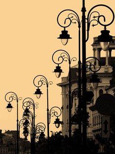 Street lamps - Warsaw - Poland