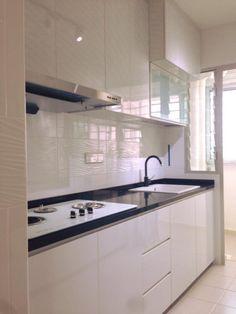 White & Black Kitchen Cabinet 1