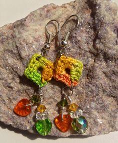 Dainty Handmade Crochet Earrings by MJsCreativeSupplies on Etsy, $5.00