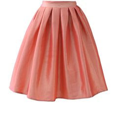 Chicwish Coral A-line Midi Skirt and other apparel, accessories and trends. Browse and shop 1 related looks.