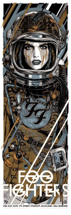 INSIDE THE ROCK POSTER FRAME BLOG: Rhys Cooper Foo Fighters Australia & New Zealand Tour Posters Release Details