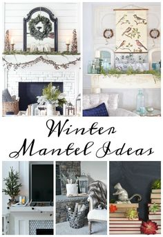 A tour of an after-Christmas winter mantel and living room with thrifty ideas and creative budget decor to help bring warmth and life to your home. Winter Home Decor, Diy Home Decor, Winter Decorations, Room Decorations, Seasonal Decor, Holiday Decor, Outdoor Shower Fixtures, Cheap Apartment For Rent, After Christmas