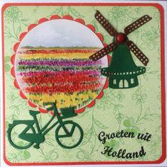Op de fiets door de bollenvelden naar Duitsland
