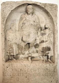 Tombstone of C. Faltonius Secundus, an infantryman of legio XXII Primigenia from Mainz. Landesmuseum Mainz