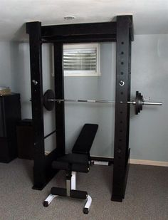 Home made squat rack...I miss doing squats.