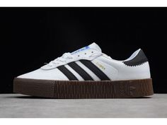Best Quality Unauthorized adidas Originals Sambarose White/Black/Gum Shoes Purchase with Cheap Price. Adidas Shoes Nmd, Adidas Shoes Outlet, Adidas Models, Adidas Men, Adidas Cheap, All White Sneakers, Jordan 13 Black, Platform Sneakers, Shoes Sneakers