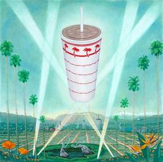 #In-N-Out, #burger, #LA, #tarpits, #palm, #shake,#fast food, #hollywood, #painting,#pop culture #funny