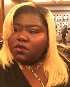 Pin for Later: 21 Celebrities Who Lost Their Damn Minds While Watching Beyoncé's Lemonade Gabourey Sidibe Gabourey Sidibe, Empire Fox, Drive Time, Beyonce, Lemonade, Cool Hairstyles, Hair Makeup, Things To Come, Actresses